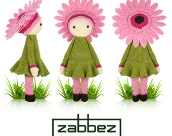 """Crochet pattern amigurumi doll """"Gerbera Gemma"""" PDF"""