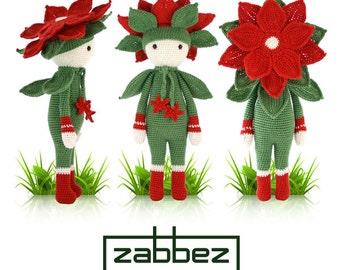 "Crochet pattern amigurumi doll ""Christmas Star Kris"" PDF"