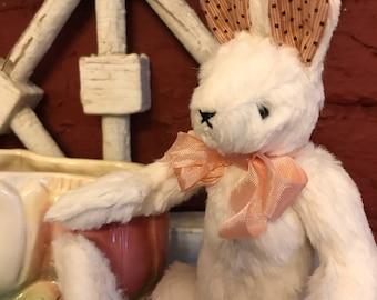 Viscose Mohair White Bunny Rabbit