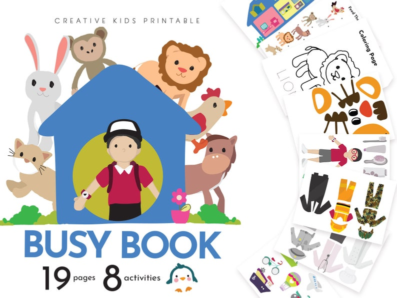 busy book printables freebie printable pretend play for toddler kids baby boy girl 2 year old 3 4 kids quiet book activity pages download