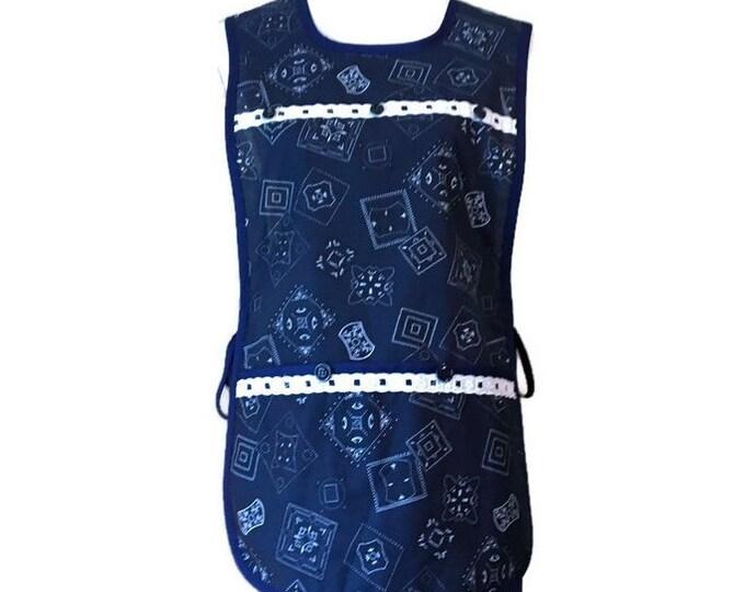 Blue Handkerchief Print Cobbler Apron / Cobbler Apron Size S-L