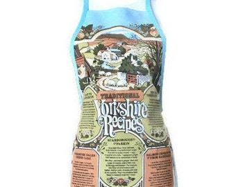 Apron from Vintage Yorkshire Linen Tea Towel / Yorkshire Pudding Apron / UK Apron / Upcycled Apron /  Apron Size XS-M