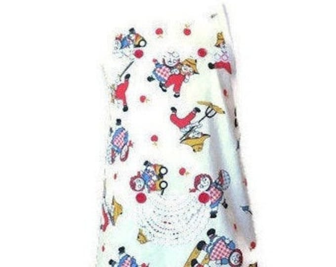 Girl's Raggedy Ann and Andy Look Vintage Design Apron / Apron for Girl's Size 3-4