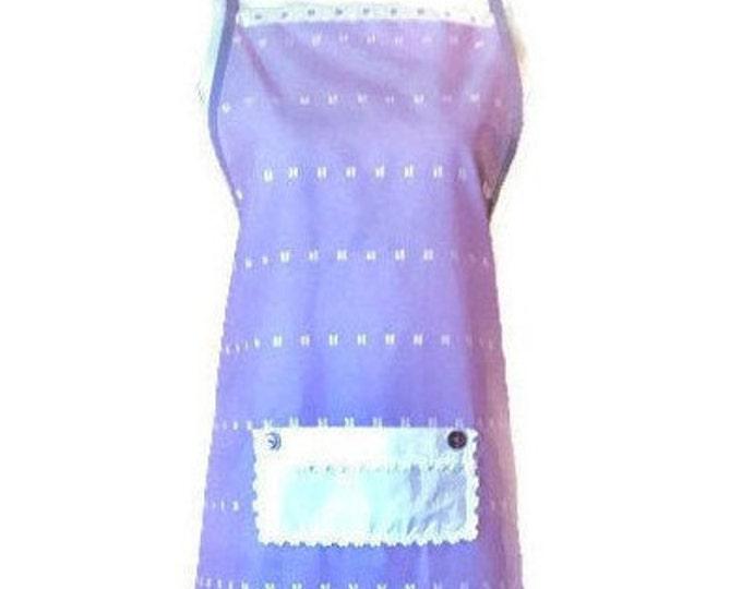 Purple Eyelet Full-Length Apron / Purple Apron for Women Size XL - 1X