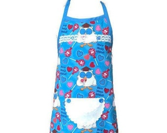 Girl's Apron from Vintage Tootsie Pop Fabric / Girl's Apron Size 5-6