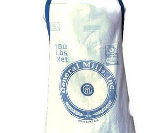 General Mills Flour Sack Apron / Flour Sack Apron for Women Size 1X to 3X
