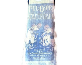Full-O-Pep Chicken Feed Sack Apron / Apron for Women Size M-1XL