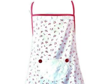 Cherry Print Plus Size Apron for Women Fits Sizes 1X-2X