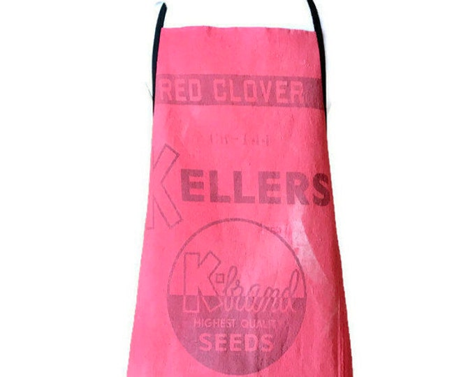 Keller Red Clover Seed Sack Apron for Women Fits Sizes Small or Medium