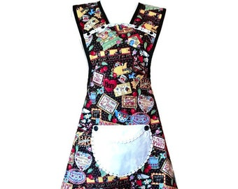 Old-Fashioned Apron From Mary Engelbreit Fabric / Apron for Woman Fits Sizes M or L
