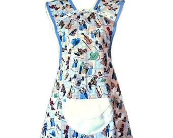 Country Dance Theme Old-Fashioned Apron for Woman Fits Sizes M or L