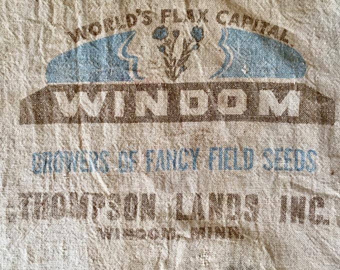 Windom Flax Seeds Sack Apron
