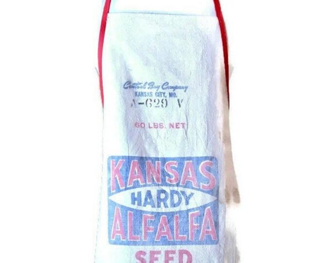 Kansas Hardy Alfalfa Seed Sack Apron for Women Fits Sizes XS to M