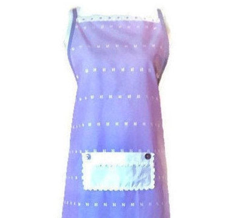 1X Purple Eyelet Full-Length Apron  Purple Apron for Women Size XL