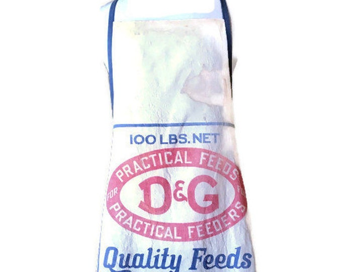 D & G Quality Feeds Sack Apron for Women Fits Sizes XL or 1X