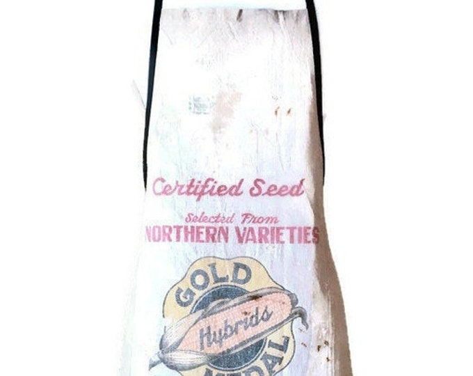 Gold Medal Hybrids Seed Sack Apron for Women Fits Sizes XS or S