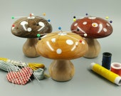 Wooden needle keeper darning mushroom, Magnetic pin holder, Sewing, Embroidery, Mending, Silvanwoodturning, Wood turning, Mother 39 s day