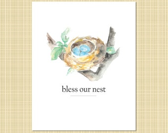 bless our nest art print