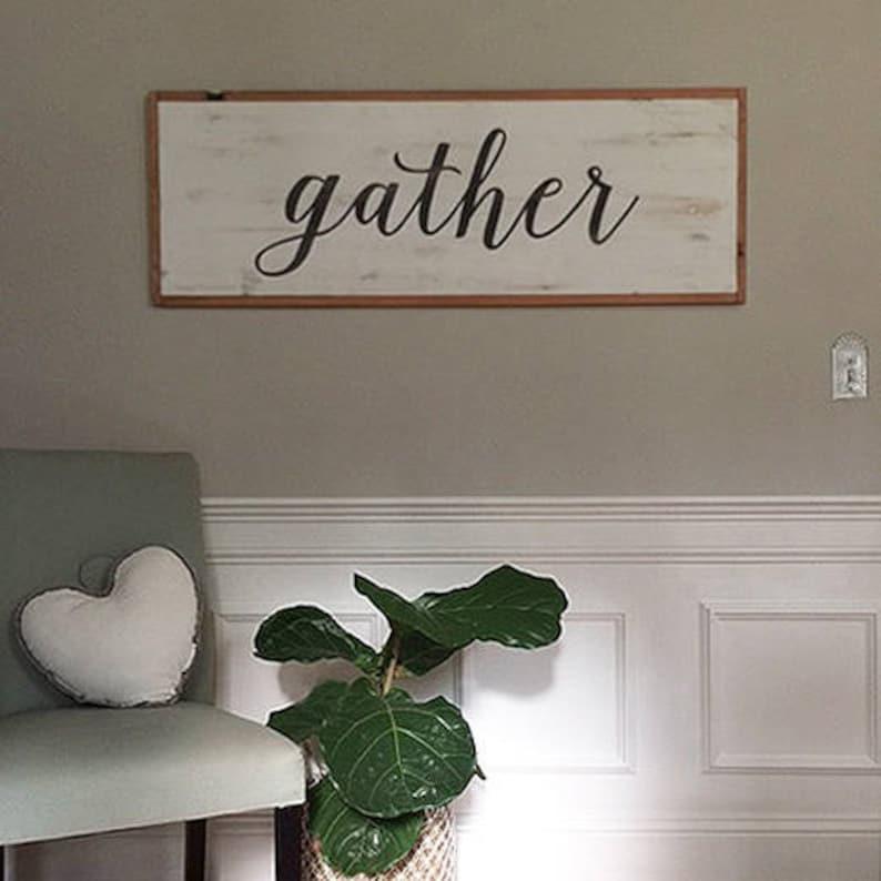 gather wood sign 50x18 image 0