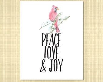 Peace, Love & Joy art print