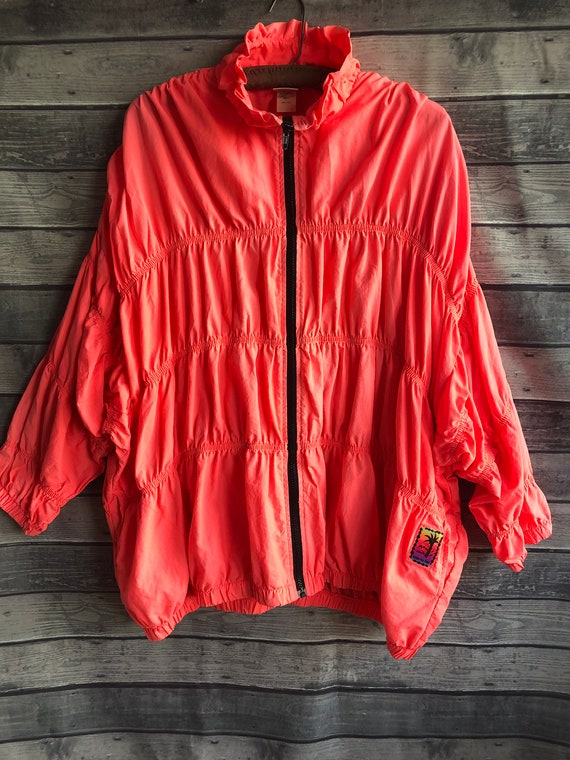 1990's Catalina Oversized Neon Jacket