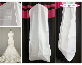 White Breathable Wedding  Dress Cover Bag Bridal Gown Bridal Dress Brides