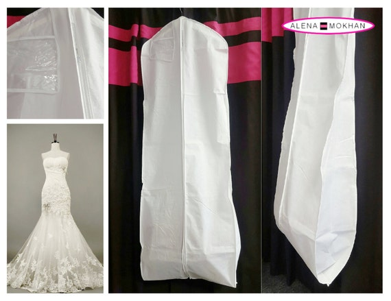 White Breathable Bridal Wedding Gown Prom Dress Garment Bag | Etsy