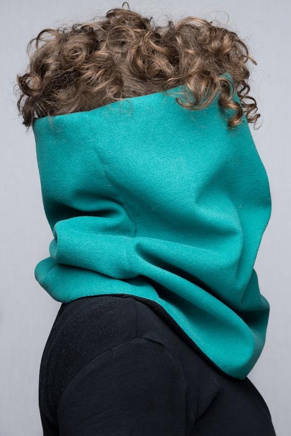 Écharpe tube col capuche snood tour de cou hyper confortable   Etsy 43f4a0a174a