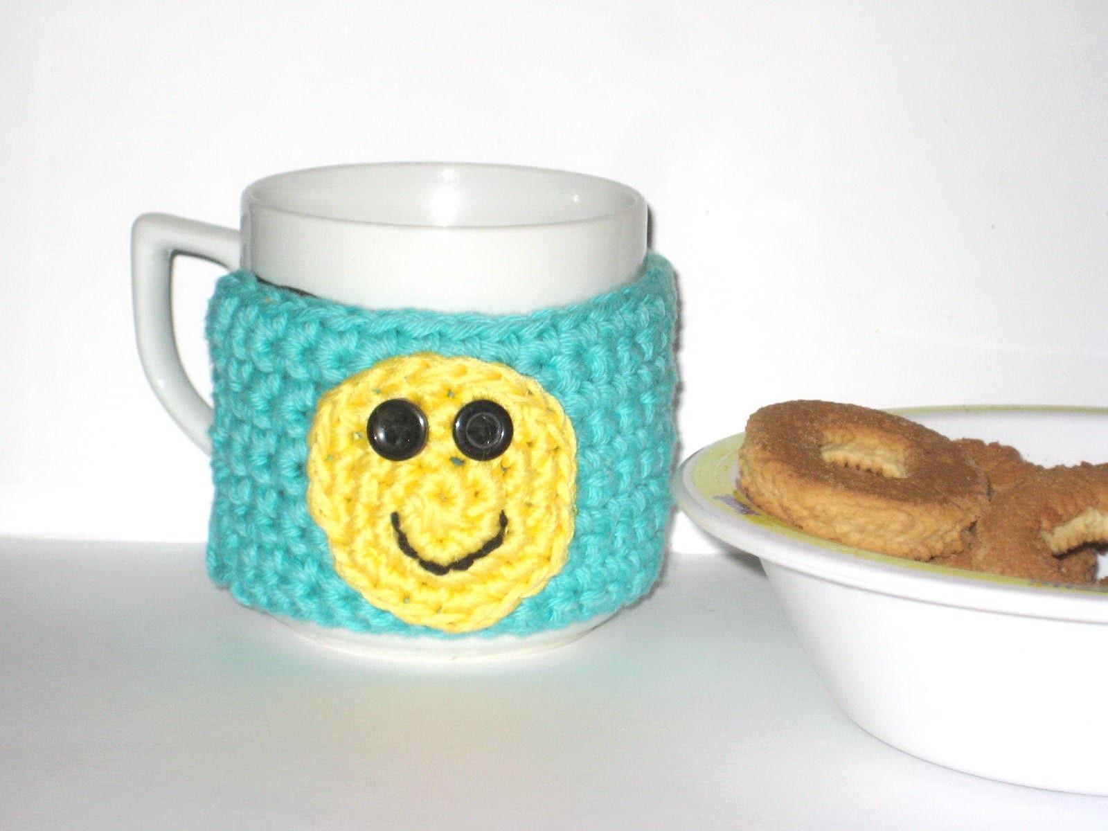 Coffee Mug Cozy Crochet Pattern Cup Sleeve Pdf Pattern Easy Etsy