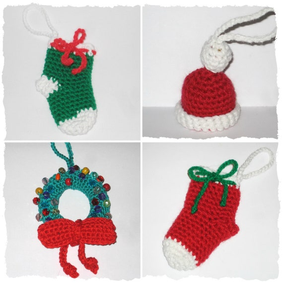 Christmas tree ornament 3 crochet patterns Christmas | Etsy
