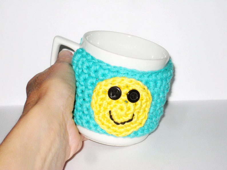 Coffee Mug Cozy Crochet Pattern Cup Sleeve Pdf Pattern Easy Etsy