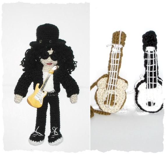 Guitar Amigurume   Crochet   Embroidery   529x570