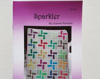 Printed quilt pattern - Sparkler (baby quilt, throw quilt and queen quilt sizes included)