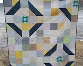 PDF Quilt Pattern - Churn (Baby quilt and throw quilt sizes included)