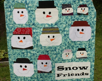 Snow Friends PDF Quilt Pattern