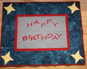 Happy Birthday Banner Quilt PDF Pattern
