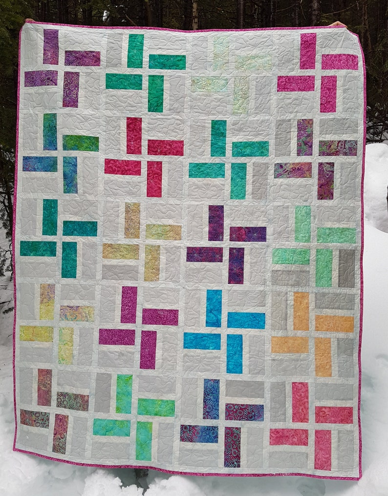 PDF Quilt Pattern  Sparkler Baby quilt throw quilt and image 0