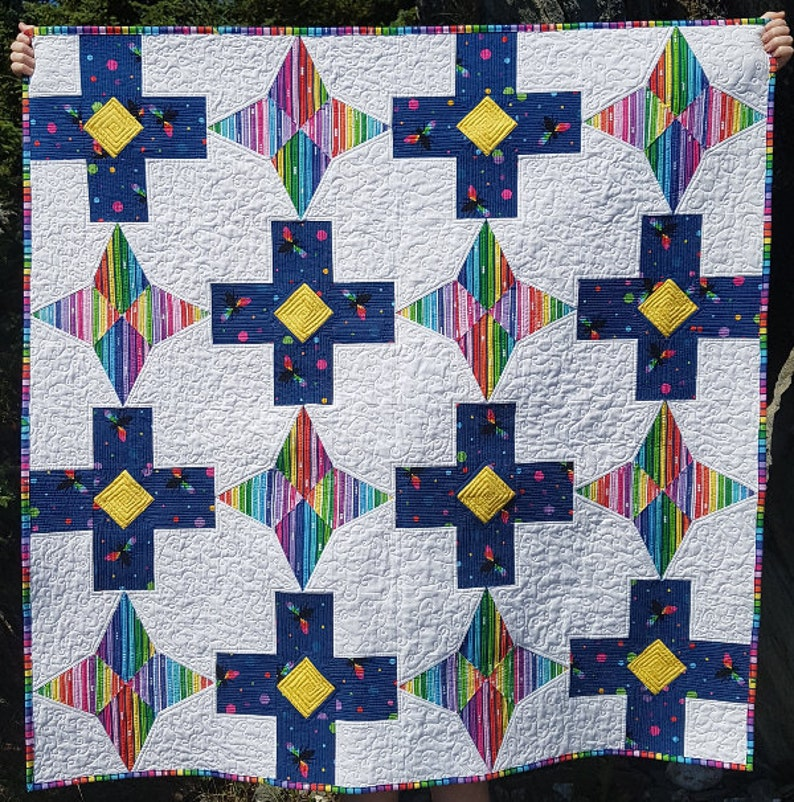 PDF Quilt Pattern  Level Up  Baby quilt throw quilt and image 0
