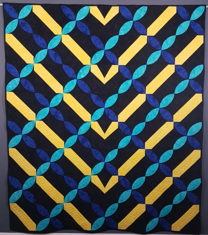 PDF Quilt Pattern  Intersections  Baby quilt throw quilt image 0