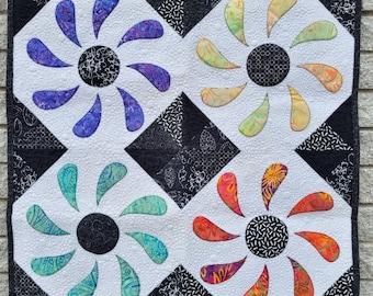 PDF Quilt Pattern - Flower Box Mini