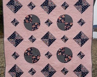 Windows PDF quilt pattern - baby quilt, throw quilt and queen quilt size options included