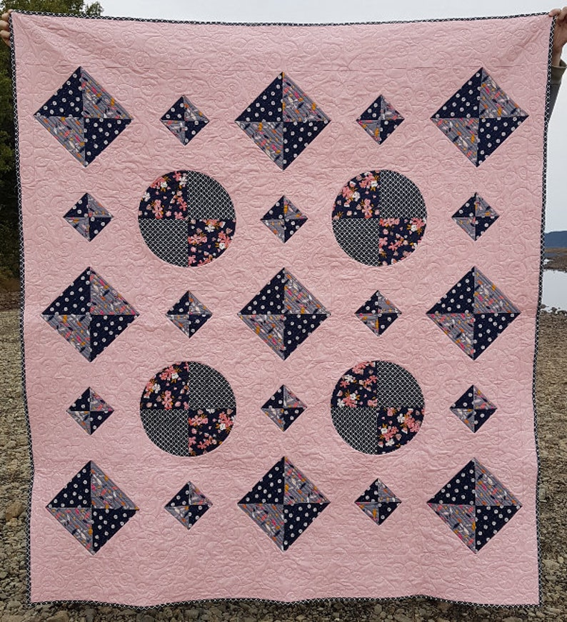 Windows PDF quilt pattern  baby quilt throw quilt and queen image 0