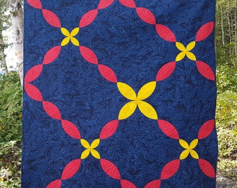 PDF Flower Path quilt pattern - baby quilt and throw quilt size options included