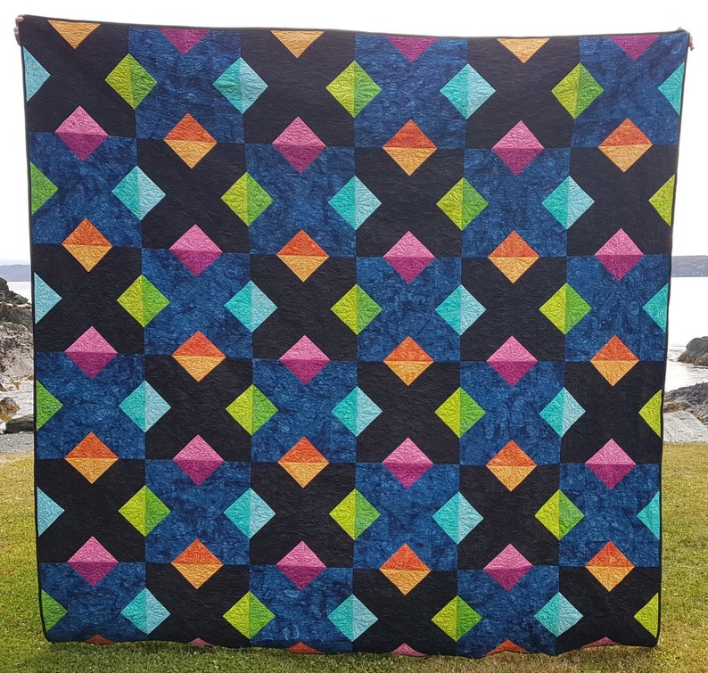 PDF Quilt Pattern  Multiplication Baby quilt throw quilt image 0