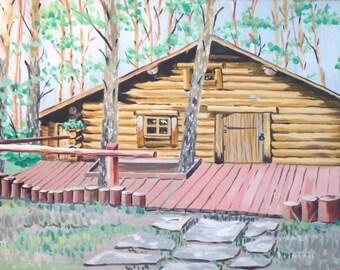 Log Cabin Landscape  |  Prints Only