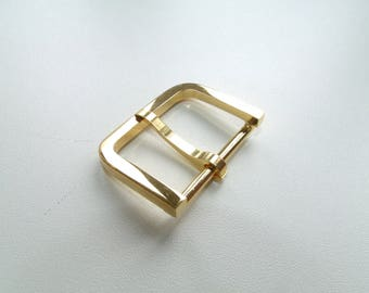 Belt buckle and/or strap in Metal Gold 3.9 cm * 3 cm * 2.8 cm