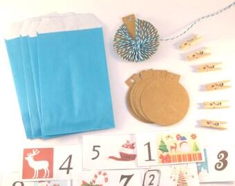 DIY Kit the Aqua Blue Christmas advent calendar