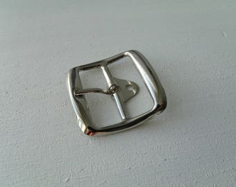 Belt buckle and/or strap 3.7 cm * 2.8 cm * 3.7 cm copes with silver metal