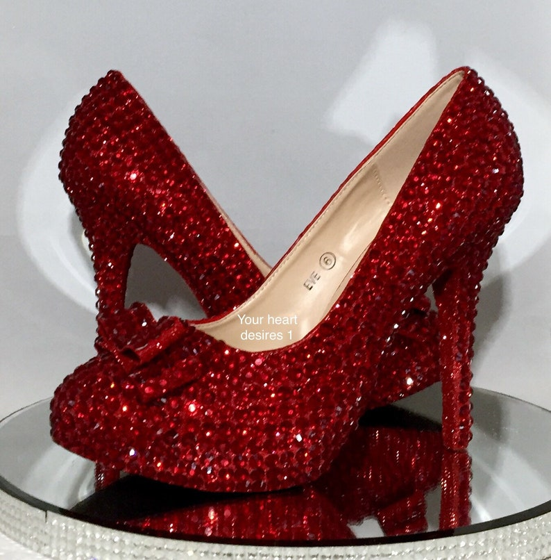 74b979ac142 Ruby red shoes, wizard of oz slippers bridal heels