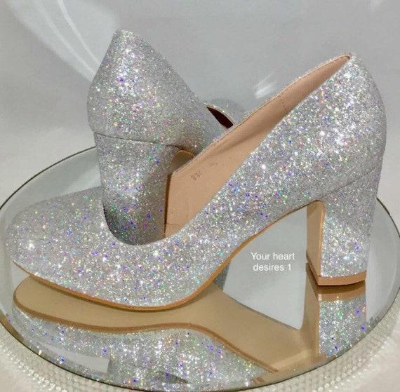 Spitz Einhorn Glitzer Schuhe Stiletto Heels Hochzeit Pumpen